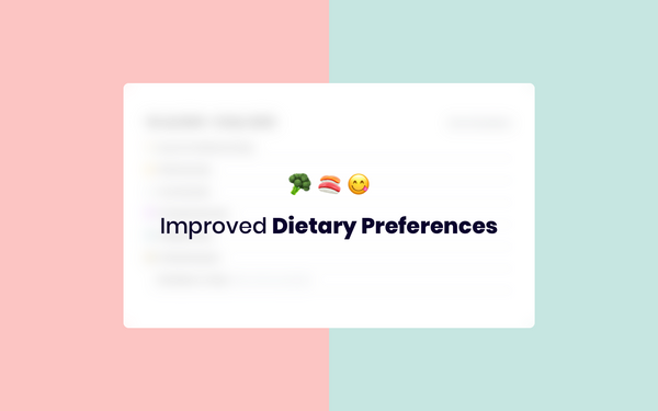 New in Humaans: Health Section + Dietary Preferences breakdown template